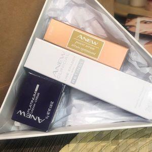 Avon 3pc Anew platinum cream, serum, line eraser